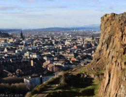 Edimbourg Holyrood park Arthur's seat