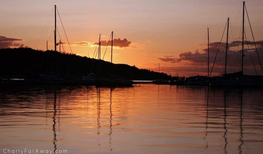Fjällbacka coucher soleil