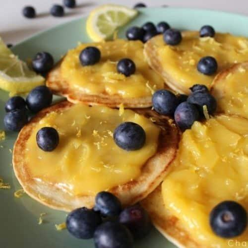 Recette de pancakes citron myrtille